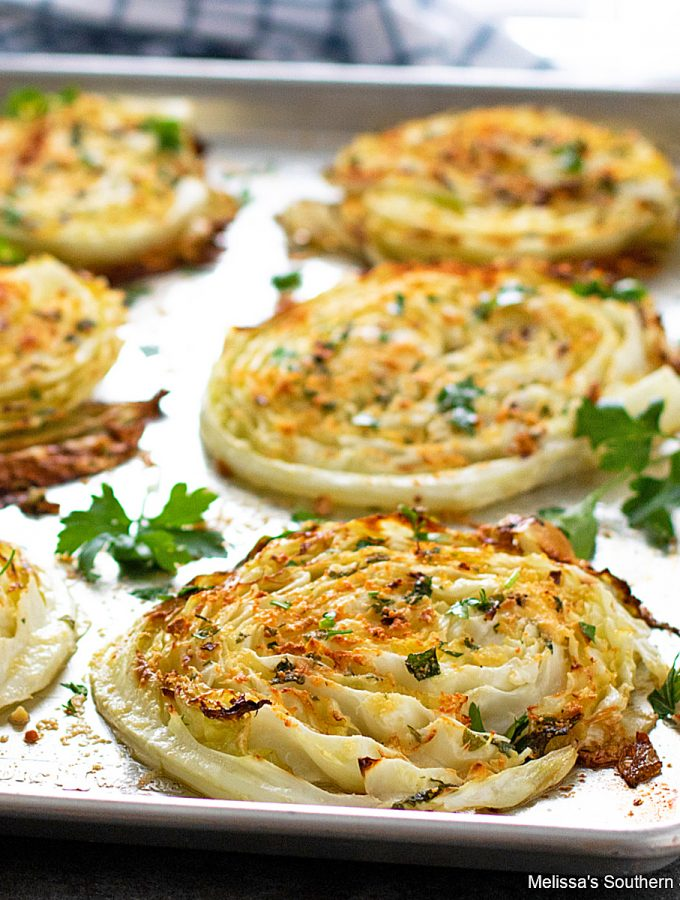 Oven Roasted Cabbage Steaks recipe with olive oil