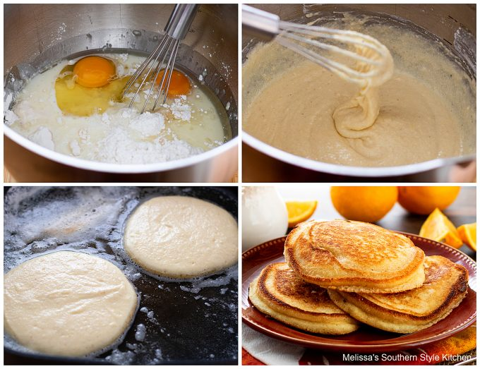 step-by-step preparation and ingredients for hoe cakes