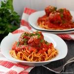 Spaghetti and Meatballs plated