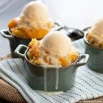 Crockpot Peach Cobbler