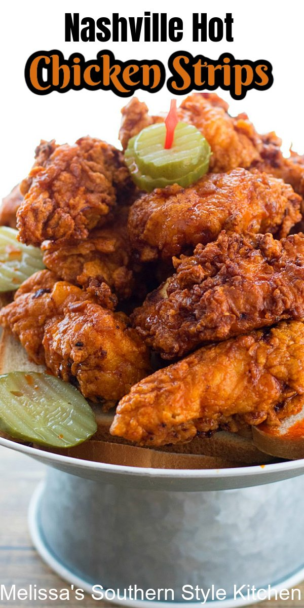 These Nashville Hot Chicken Strips are melt in your mouth tender, and are guaranteed to add a kick to your meal #nashvillehotchickenrecipe #nashvillehotchickenstrips #hotchicken #bestnashvillehotchicken #easychickenbreastrecipes #southernrecipes #southernfood #chicken #chickenbreasts #friedchicken #southernfriedchicken