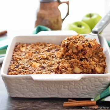 Apple Baked Oatmeal Recipe with cinnamon