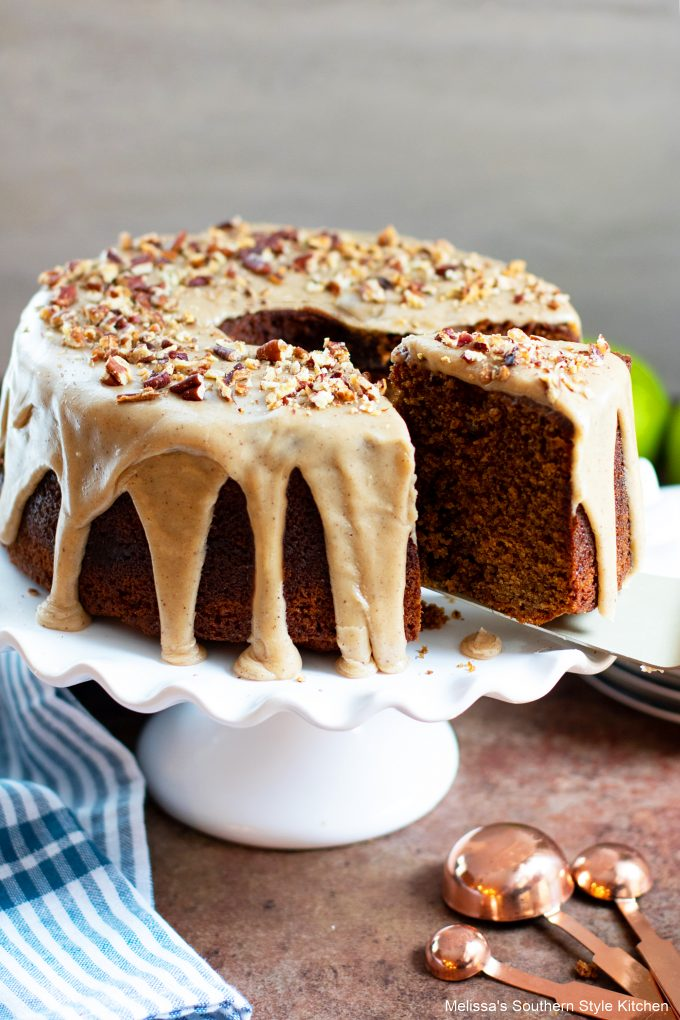 old fashioned Applesauce Cake with Brown Butter Glaze
