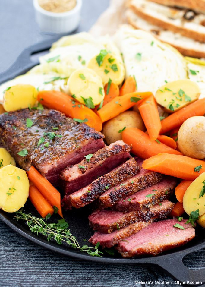 oven braised Corned Beef and Cabbage