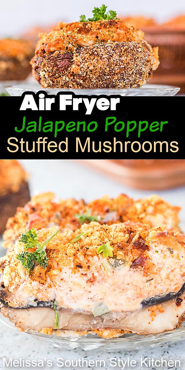 breaded Air Fryer Jalapeno Popper Stuffed Mushrooms