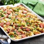 Sheet Pan Cabbage and Kielbasa