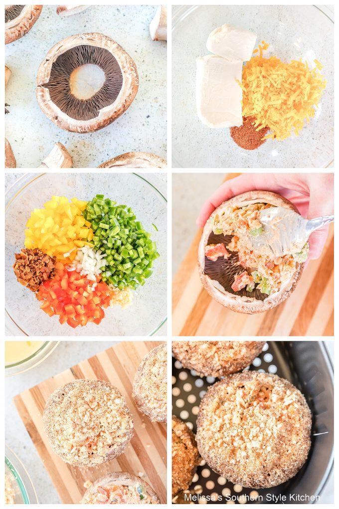 easy Air Fryer Jalapeno Popper Stuffed Mushrooms