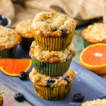 Blueberry Muffins recipe with crumb topping