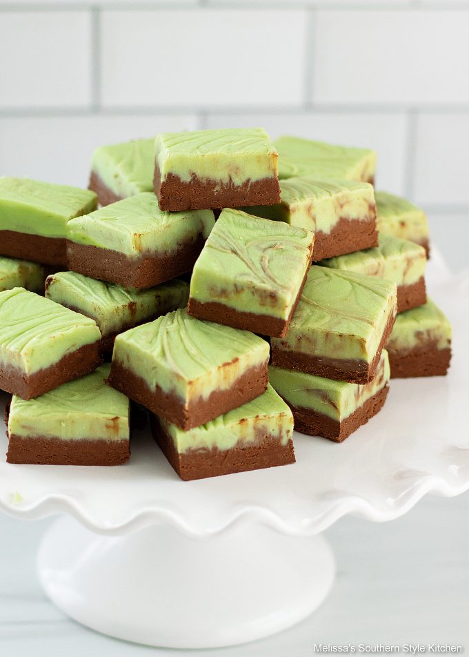 layered Chocolate Mint Fudge