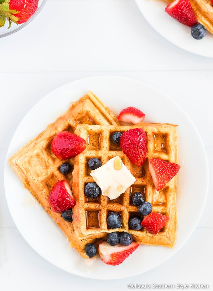 square Fluffy Buttermilk Waffles