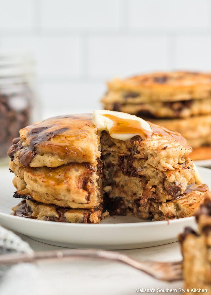 homemade Oatmeal Chocolate Chip Pancakes