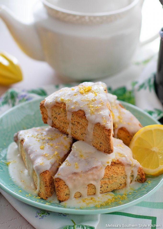 lemon glazed Lemon Poppy Seed Scones