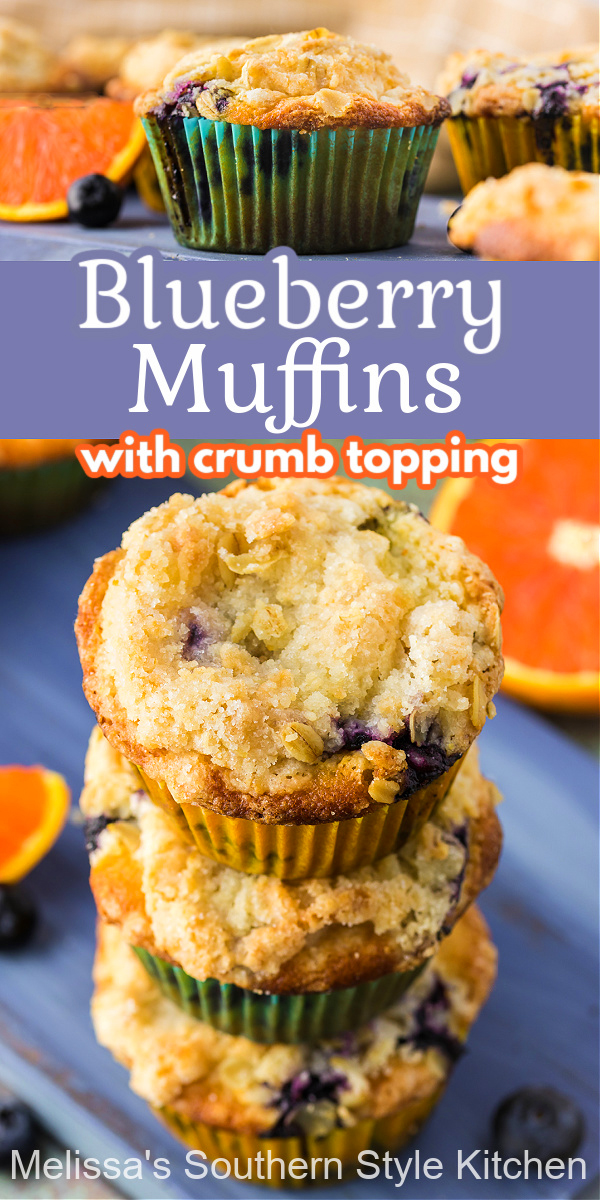 Skip the drive thru and make your own Blueberry Muffins at home #blueberrymuffins #blueberries #muffinrecipes #muffins #breakfast #brunch #bestmuffinrecipes #southernrecipes #southernfood