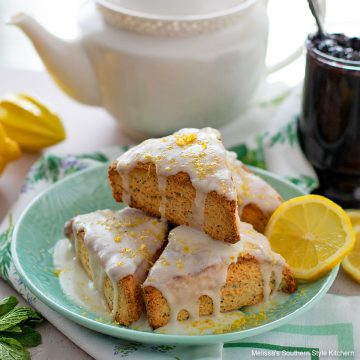 Southern style Lemon Poppy Seed Scones