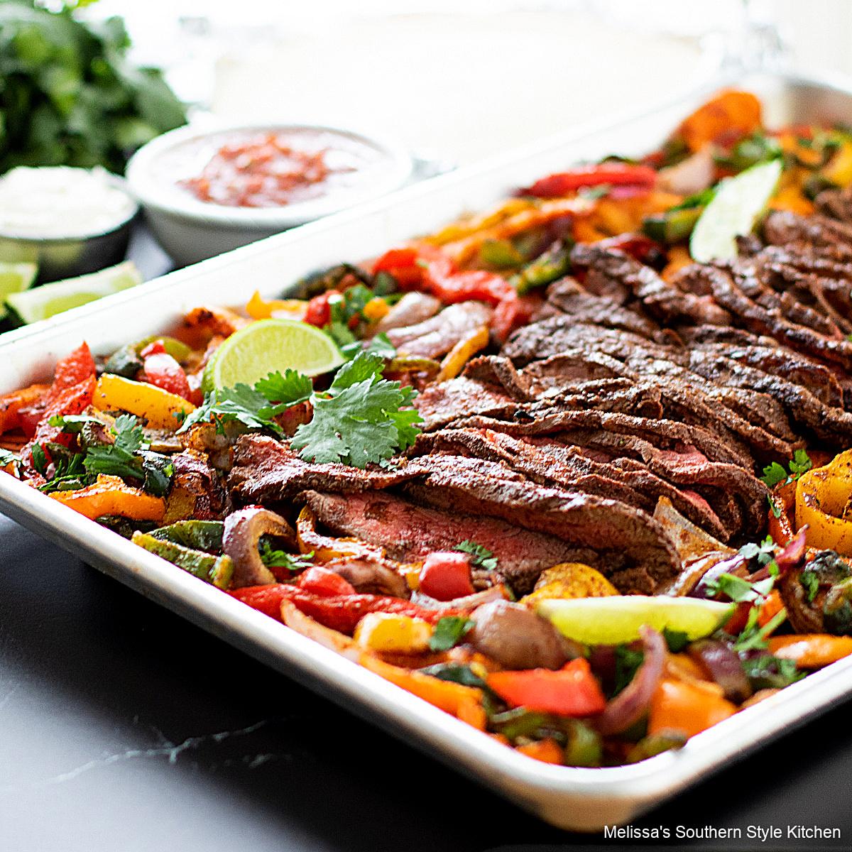 oven Sheet Pan Steak Fajitas