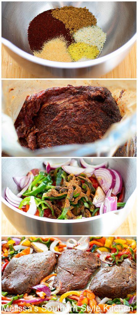 ingredients for Sheet Pan Steak Fajitas