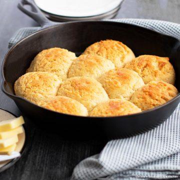 Almond Flour Biscuits in a skillet gluten free