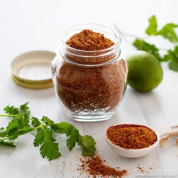 Homemade Taco Seasoning recipe in a jar