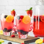 Sparkling Berry Lemonade without alcohol
