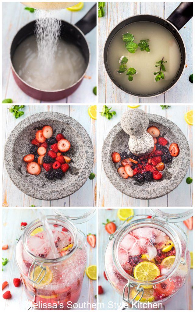 ingredients for Sparkling Berry Lemonade