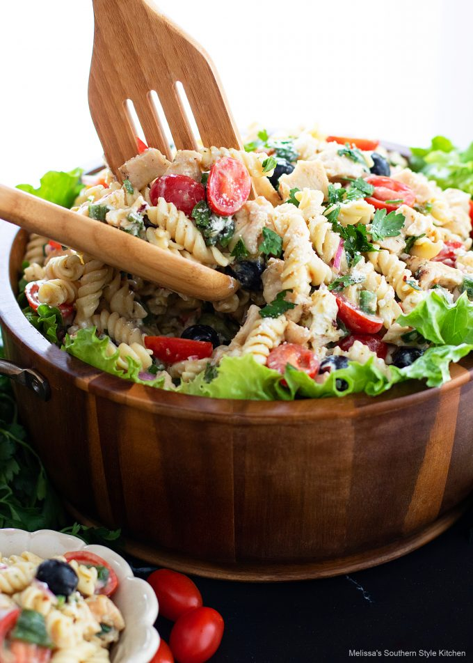 easy Pasta Salad with Chicken