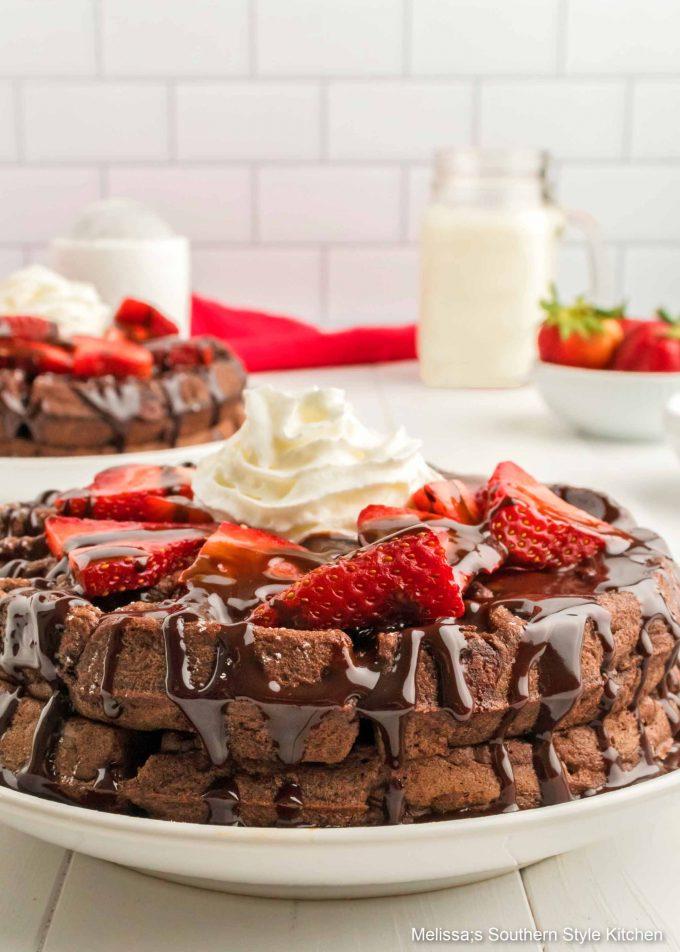 Double Chocolate Buttermilk Waffles recipe