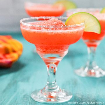 Frozen-Strawberry-Lime-Margaritas recipe