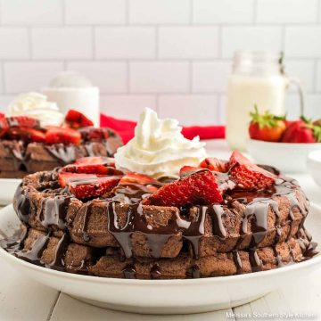 best ever Double Chocolate Buttermilk Waffles