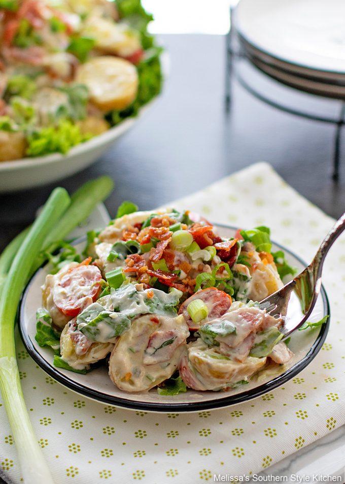 plated BLT Potato Salad