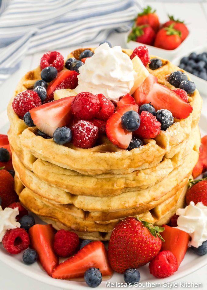 Belgian Waffles with fruit