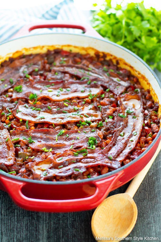 Homemade Baked Beans with molasses and bacon