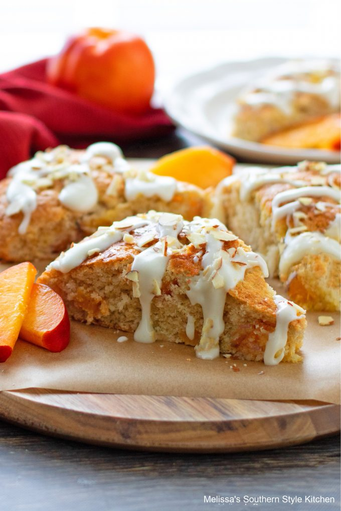 Southern style Peach Scones