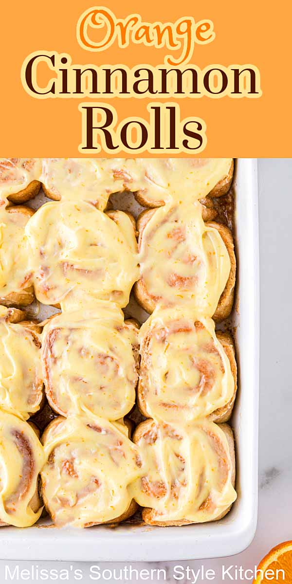 These citrus filled Orange Cinnamon Rolls are slathered with a dreamy orange cream cheese frosting #orangecinnamonrolls #orangerolls #cinnamonrolls #homemadecinnamonrollsrecipe #brunch #desserts #dessertfoodrecipes #breakfast #holidaybrunchrecipes #southernrecipes