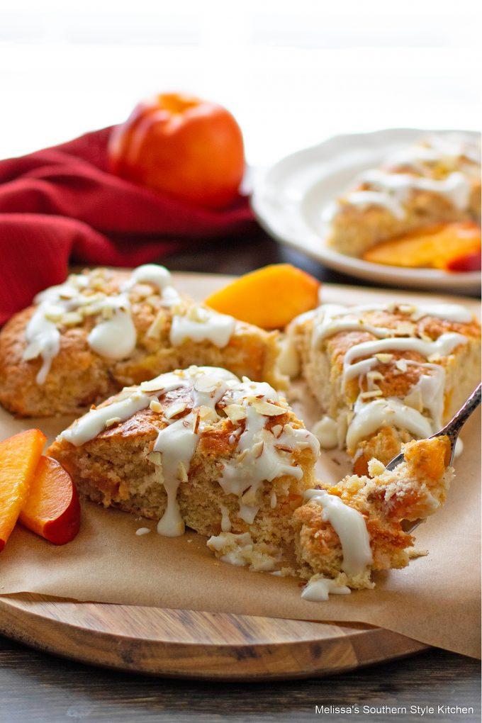 baked Peach Scones
