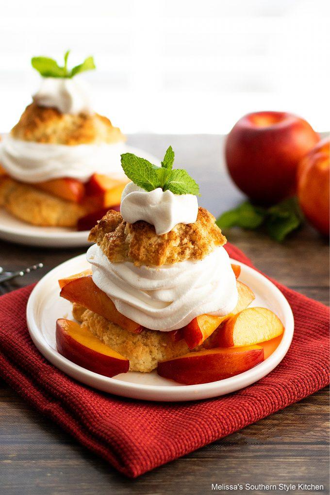 easy Peach Shortcake