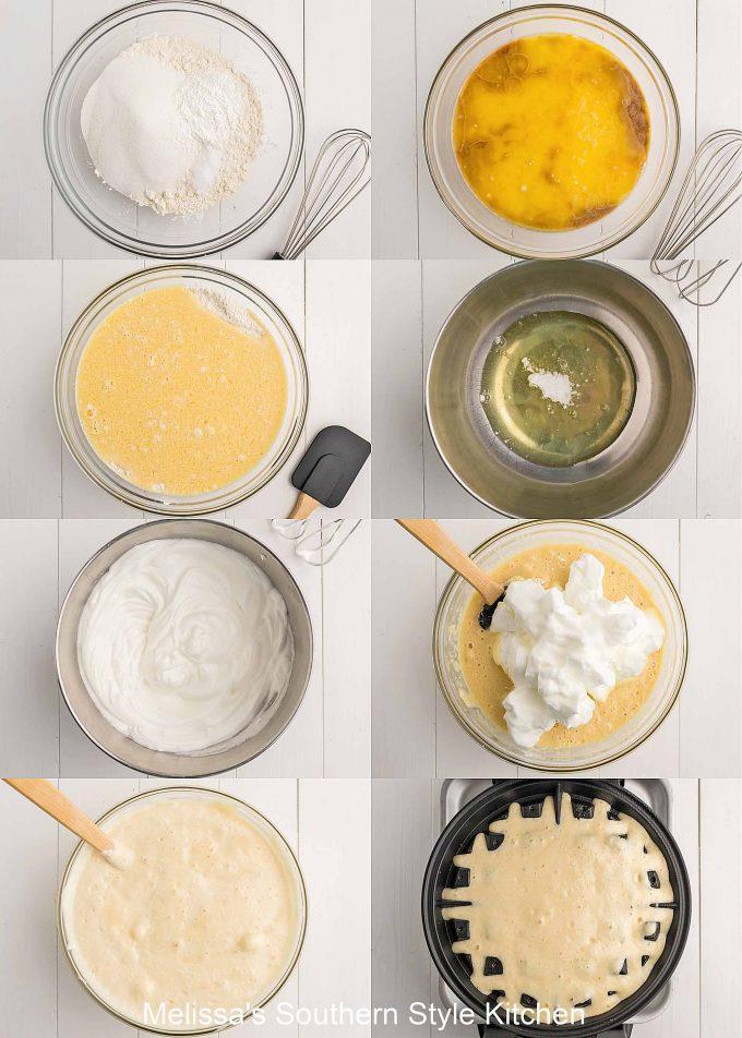 ingredients to make Belgian Waffles