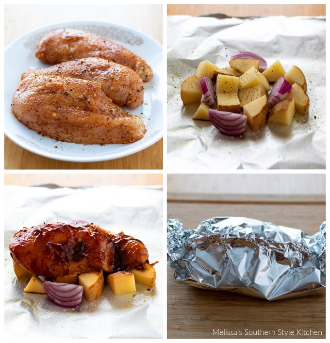 how to make Chicken and Potato Foil Packets
