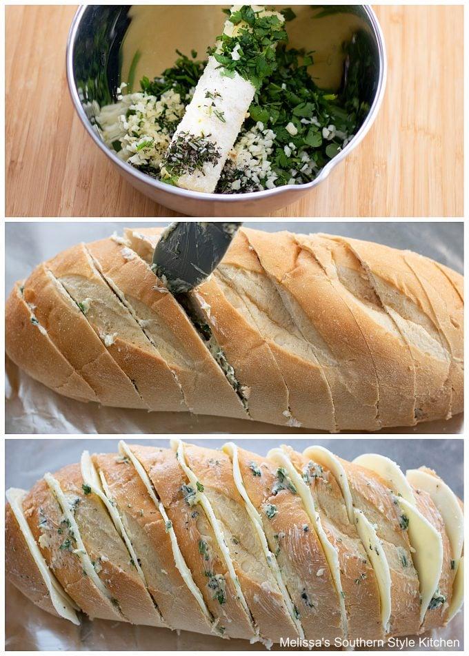 Cheesy Garlic Herb Bread ingredients
