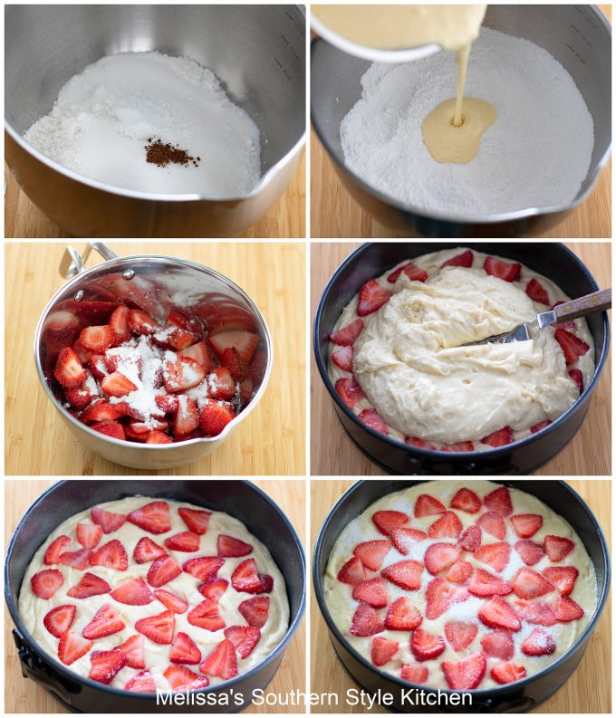 how to make Fresh Strawberry Coffee Cake