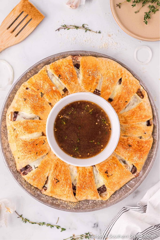 how to make a French Dip Crescent Ring