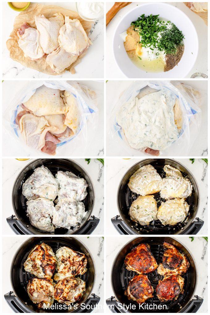 how to make yogurt marinated chicken thighs in an air fryer