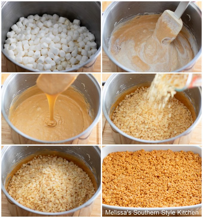 ingredients to make Butterscotch Rice Krispies Treats