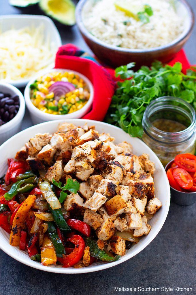 ingredients to make Chicken Burrito Bowls