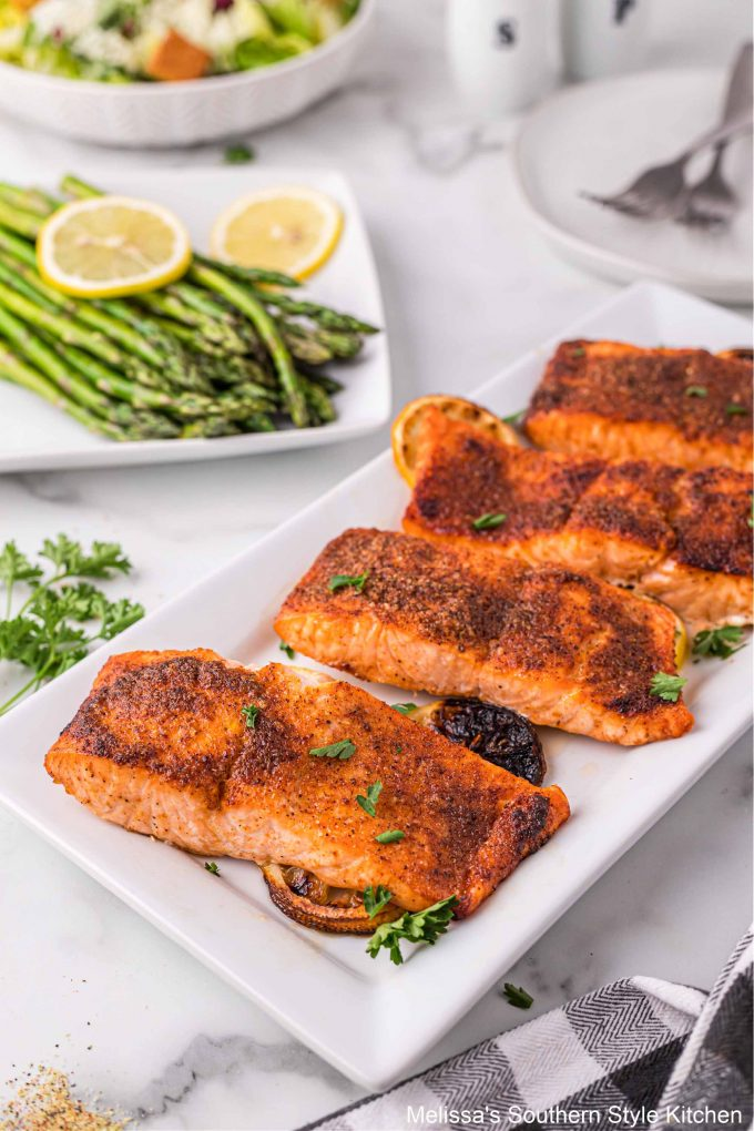 plated Air Fryer Salmon