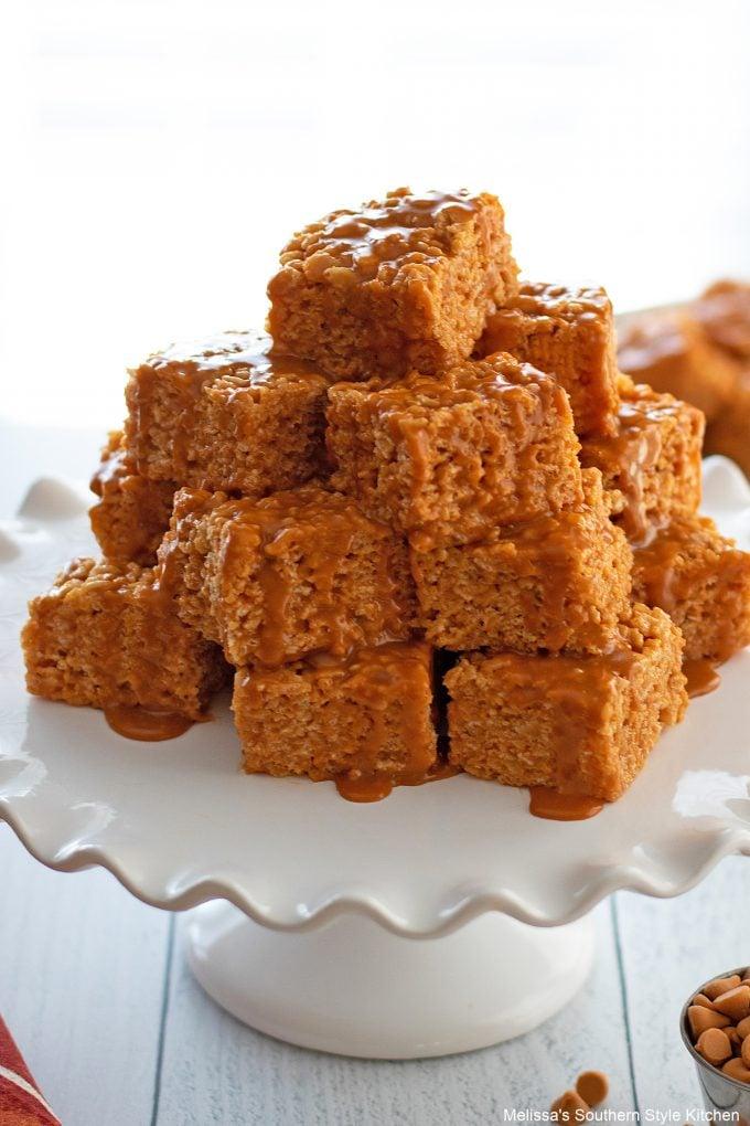 butterscotch drizzle Butterscotch Rice Krispies Treats