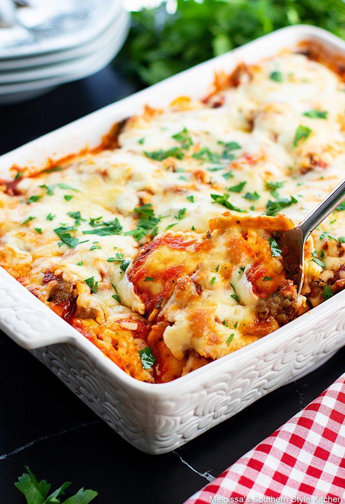 baked-ravioli-casserole-with-Italian-sausage