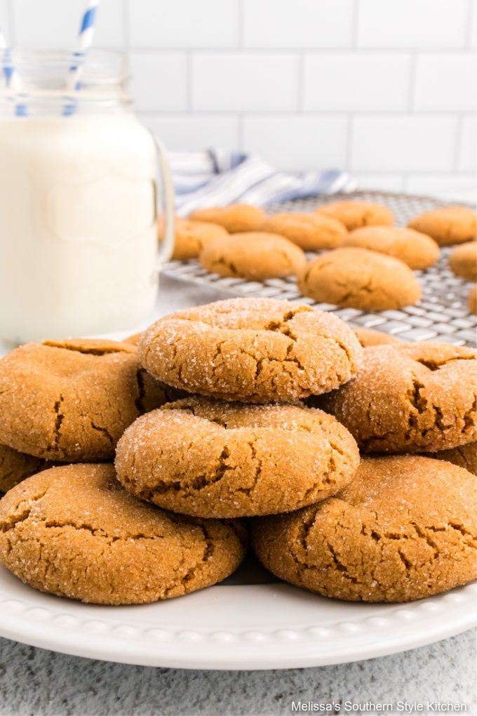 plated-soft-molasses-cookies